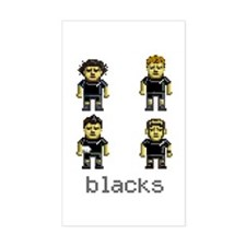 Blacks New Zealand Rugby Rectangle Decal