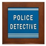 Police Detective Blues Framed Tile