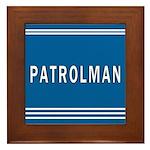 Patrolman Blues Framed Tile