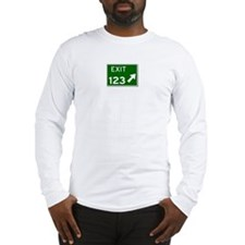 EXIT 123 Long Sleeve T-Shirt