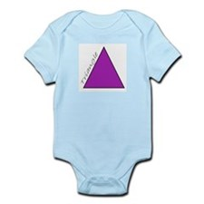 purple triangle Infant Creeper