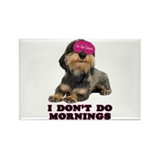 Wirehaired Dachshund Mornings Rectangle Magnet