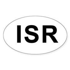 ISR (Israel) Oval Decal