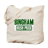 Bingham irish pride Tote Bag