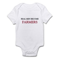 Real Men Become Farmers Onesie
