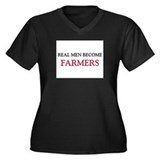 Real Men Become Farmers Women's Plus Size V-Neck D