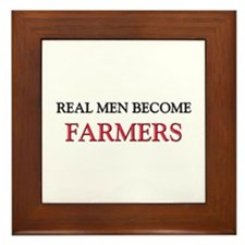 Real Men Become Farmers Framed Tile