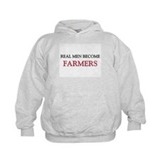 Real Men Become Farmers Kids Hoodie