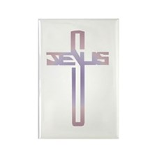Jesus Cross Rectangle Magnet (100 pack)