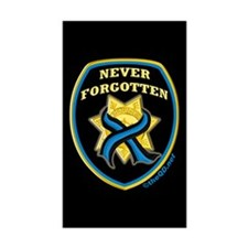 Thin Blue Line NeverForgotten Rectangle Sticker 1