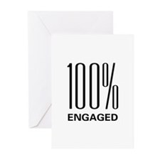 100 Percent Engaged Greeting Cards (Pk of 10)