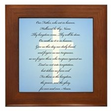 The Lord's Prayer Framed Tile