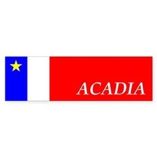Flag of Acadia Bumper Sticker (EN)