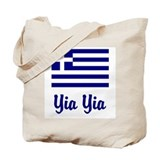 Yia Yia with Greek Flag Tote Bag