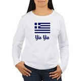 Yia Yia with Greek Flag T-Shirt