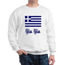 Yia Yia with Greek Flag Sweater