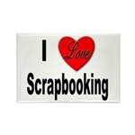 I Love Scrapbooking Rectangle Magnet (10 pack)