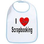 I Love Scrapbooking Bib