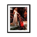 Accolade / Poodle (Silver) Framed Panel Print