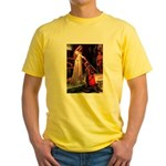 Accolade / Poodle (Silver) Yellow T-Shirt