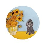 Sunflowers / Poodle (Silver) 3.5