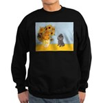 Sunflowers / Poodle (Silver) Sweatshirt (dark)