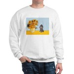 Sunflowers / Poodle (Silver) Sweatshirt