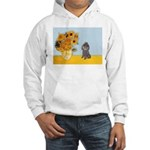 Sunflowers / Poodle (Silver) Hooded Sweatshirt