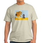 Sunflowers / Poodle (Silver) Light T-Shirt