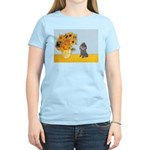 Sunflowers / Poodle (Silver) Women's Light T-Shirt