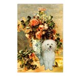 Vase / Poodle (White) Postcards (Package of 8)