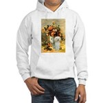 Vase / Poodle (White) Hooded Sweatshirt