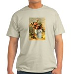 Vase / Poodle (White) Light T-Shirt