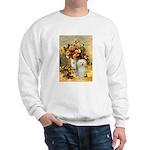 Vase / Poodle (White) Sweatshirt