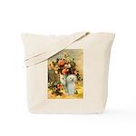 Vase / Poodle (White) Tote Bag