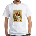 Vase / Poodle (White) White T-Shirt