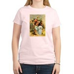 Vase / Poodle (White) Women's Light T-Shirt