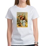 Vase / Poodle (White) Women's T-Shirt