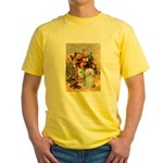 Vase / Poodle (White) Yellow T-Shirt