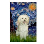 Starry / Poodle (White) Postcards (Package of 8)