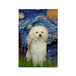 Starry / Poodle (White) Rectangle Magnet (10 pack)