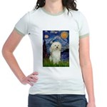 Starry / Poodle (White) Jr. Ringer T-Shirt