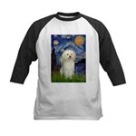 Starry / Poodle (White) Kids Baseball Jersey