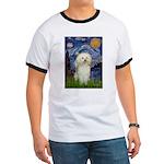 Starry / Poodle (White) Ringer T