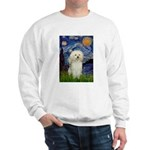 Starry / Poodle (White) Sweatshirt