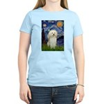Starry / Poodle (White) Women's Light T-Shirt