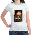 Elizabeth / Poodle (Silver) Jr. Ringer T-Shirt