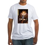 Elizabeth / Poodle (Silver) Fitted T-Shirt