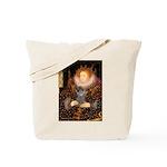 Elizabeth / Poodle (Silver) Tote Bag