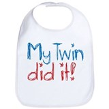 My Twin Did It! (2) Bib